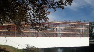 Rénovation d'une passerelle métallique à Billère sur le Gave, France