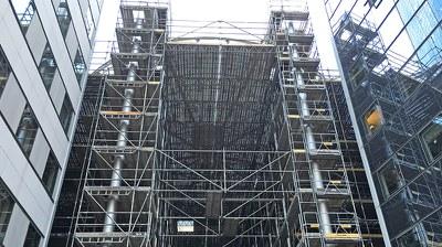 Rénovation d'une verrière sur charpente métallique, Paris La Défense, France
