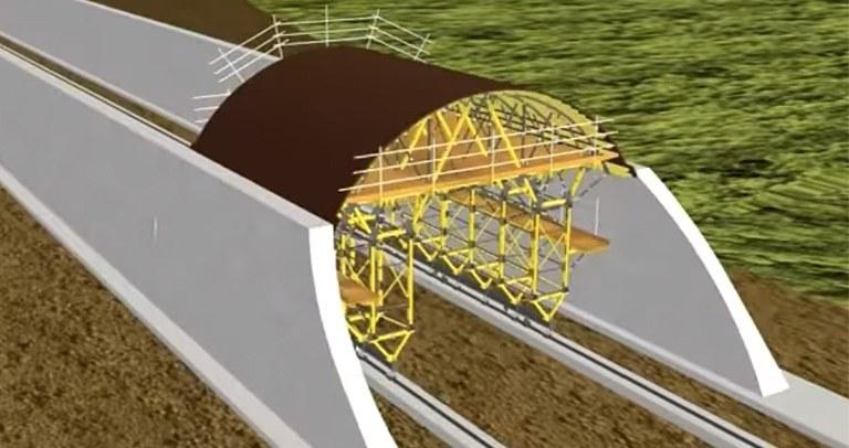 Chariot de coffrage MK pour tunnels à ciel ouvert