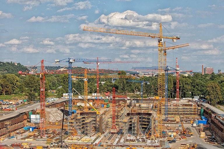 Coffrage et échafaudage ULMA dans la plus grande station d'épuration d'Europe centrale