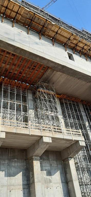 Les étaiements MK démontrent leur capacité de charge élevée dans le cadre de la construction de l'usine de transformation des déchets de Pavie